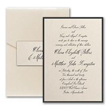 Sophisticated Type - Invitation with Pocket and Backer