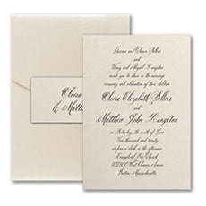 Sophisticated Type - Pocket Invitation