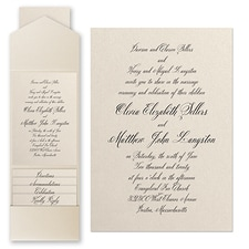 Pocket Invitation: Sophisticated Type