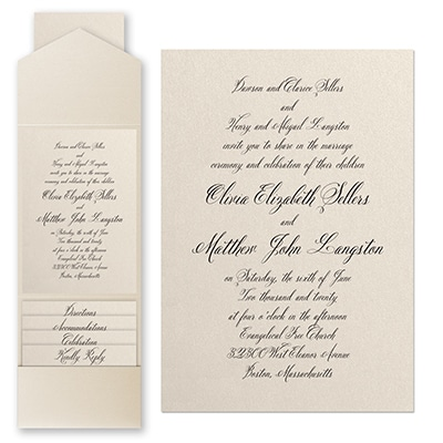 Sophisticated Type - Invitation with Pocket