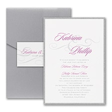 Modern wedding Invitation: Charming Type