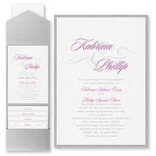 Pocket Invitation: Charming Type