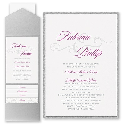 Charming Type - Invitation with Pocket and Backer