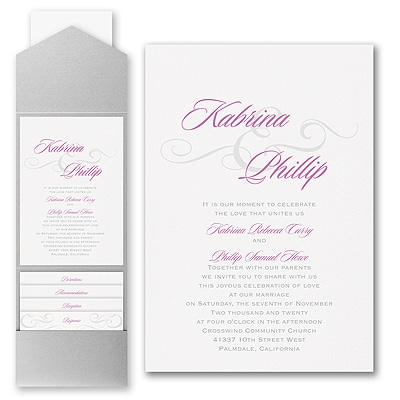 Charming Type - Invitation with Pocket