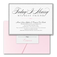 Modern wedding Invitation: Marry Today