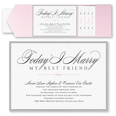 Marry Today - Invitation with Pocket and Backer