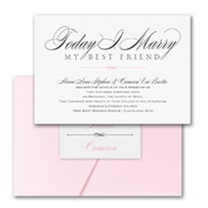 Marry Today - Pocket Invitation