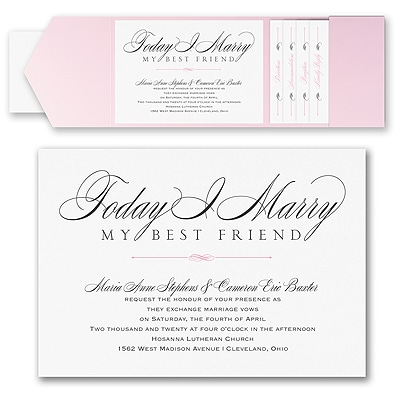 Marry Today - Invitation with Pocket