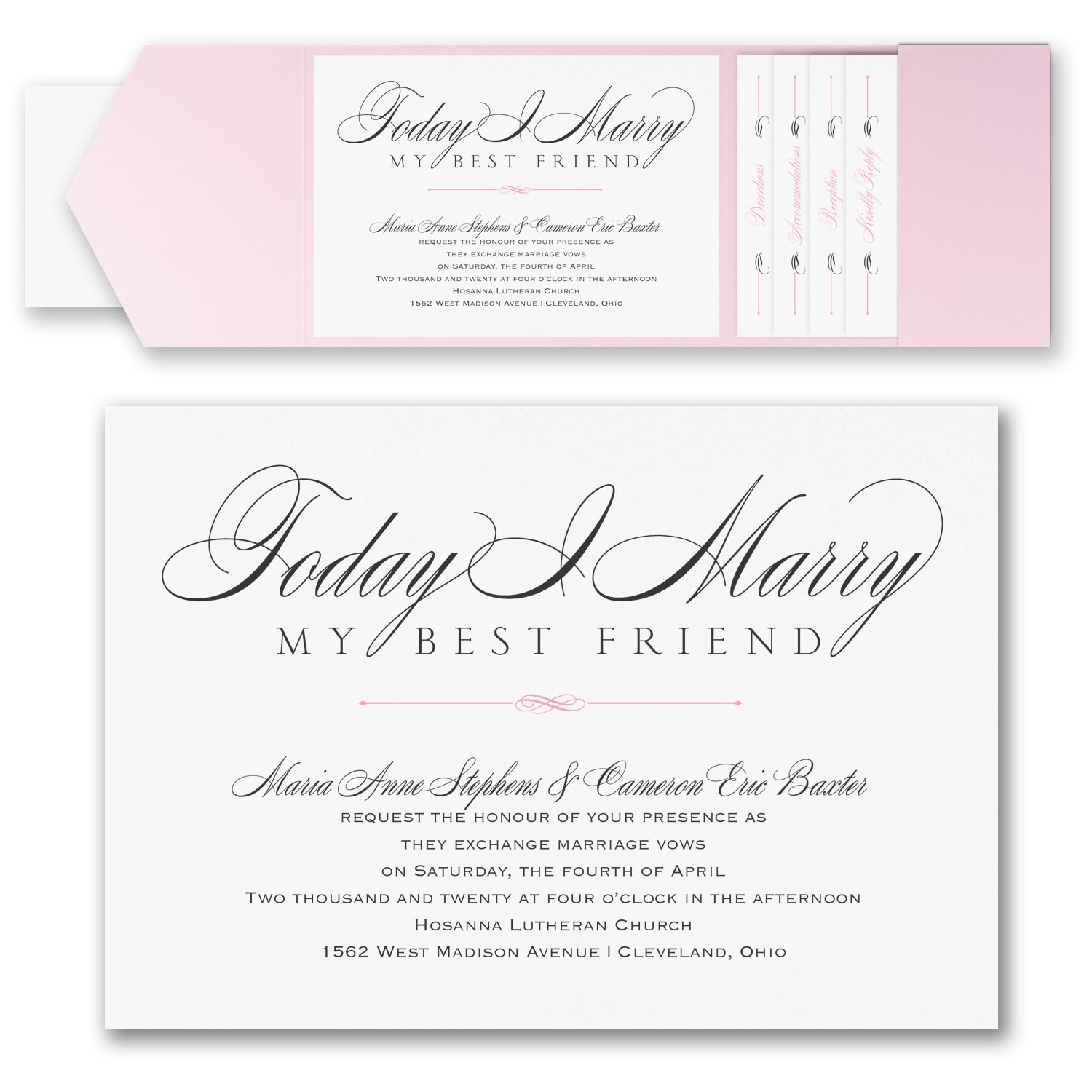 Marry Today - Invitation with Pocket > Pockets   Staples