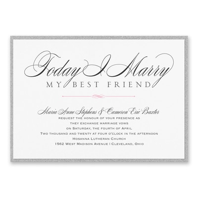 Marry Today - Invitation with Backer