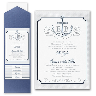 Love Tide - Invitation with Pocket