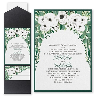 Greenery Garden - Invitation with Pocket and Backer