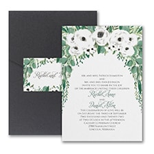 Pocket Invitation: Greenery Garden