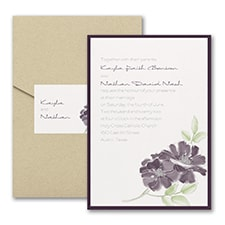 Modern wedding Invitation: Hand