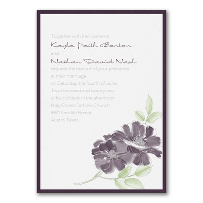 Hand-Drawn Floral - Invitation with Backer