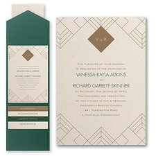 Modern wedding Invitation: Striking Geo
