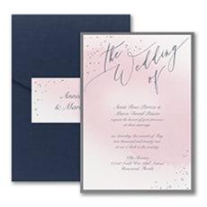 Champagne Wedding - Modern Invitation