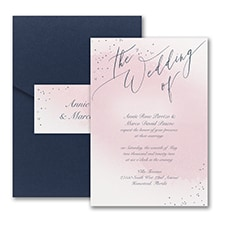 Champagne Wedding - Pocket Invitation