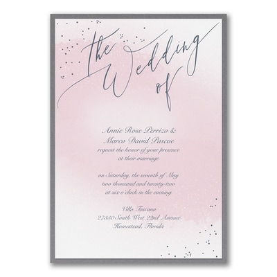 Champagne Wedding - Invitation with Backer