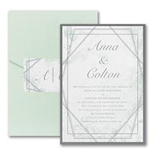 Modern wedding Invitation: Dazzling Geometric