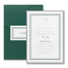 Elegant Borders - Pocket Invitation