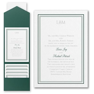 Elegant Borders - Invitation with Pocket