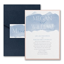 Modern wedding Invitation: Picturesque Watercolor