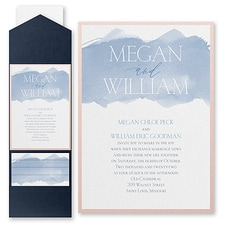 Modern wedding Invitation: Picturesque Watercolor
