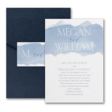 Picturesque Watercolor - Pocket Invitation