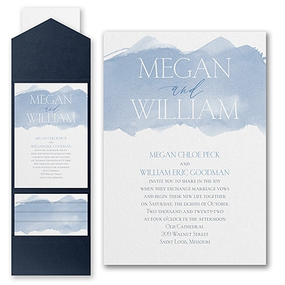 Picturesque Watercolor - Invitation with Pocket