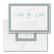 Modern wedding Invitation: Romantic Border