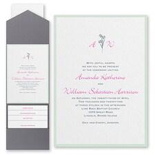 Monogram wedding invitation: Floral Monogram