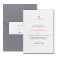 Floral Monogram - Monogram Invitation