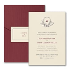 Greenery Crest - Pocket Invitation