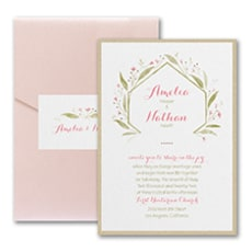 Romantically Fresh Invitation with Pocket and Backer  - Pocket Invitation
