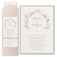 Pocket Invitation: Romantically Fresh Invitation with Pocket and Backer