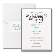 Wedding Whimsy - Invitation with Pocket and Backer