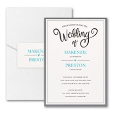 Wedding Whimsy - Pocket Invitation