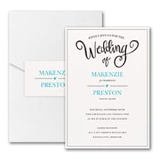 Wedding Whimsy Invitation with Pocket  - Pocket Invitation