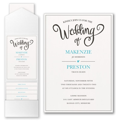 Wedding Whimsy Invitation with Pocket