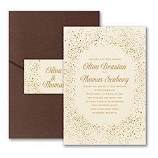 Champagne Delight - Invitation with Pocket