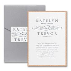 Sophisticated Script - Pocket Invitation