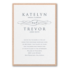 Wedding Invitation: Sophisticated Script