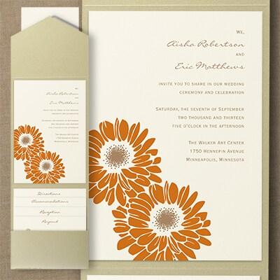 Dizzy Daisies - Pocket Invitation