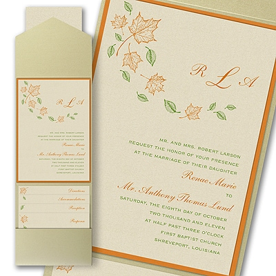 Maple Breeze - Layered Pocket Invitation