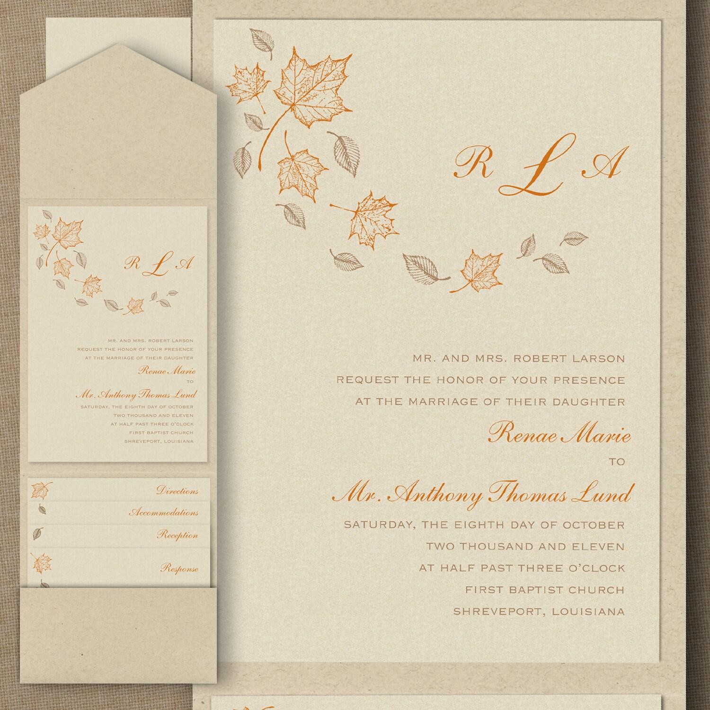 Maple Breeze - Pocket Invitation > Wedding Invitations | Carlson ...