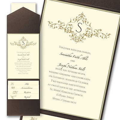 Thermo French Floret - Layered Pocket Invitation