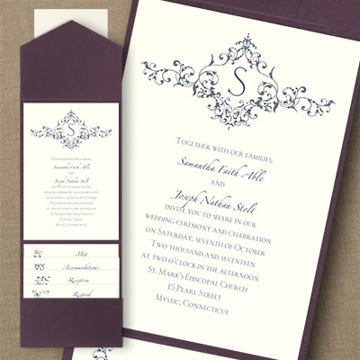 Thermo French Floret - Pocket Invitation