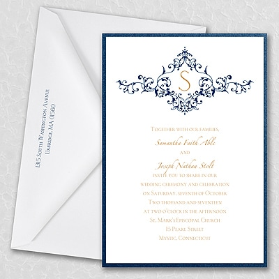 Thermo French Floret - Layered Invitation