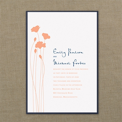 Blooming Blossoms - Layered Invitation